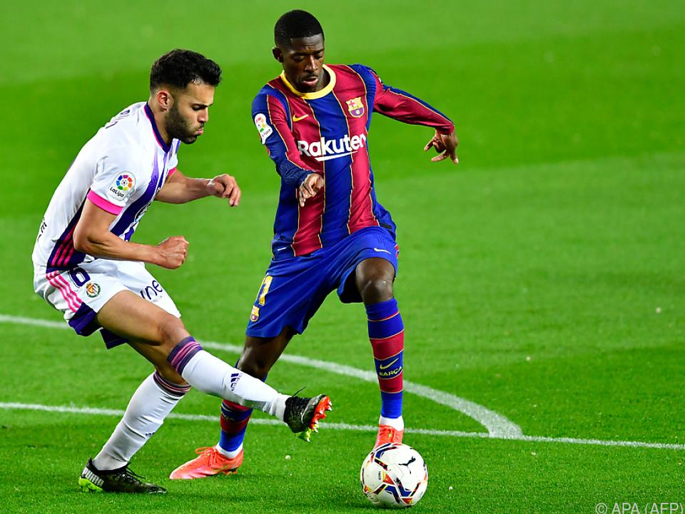 Dembele schoss Barca zum Sieg über Valladolid