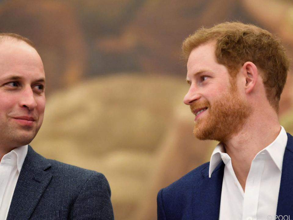 Die Prinzen William und Harry bei einem Auftritt im Jahr 2018