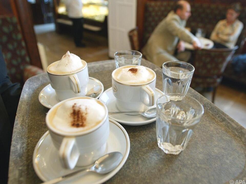 Eine typische Wiener Kaffeehausszene