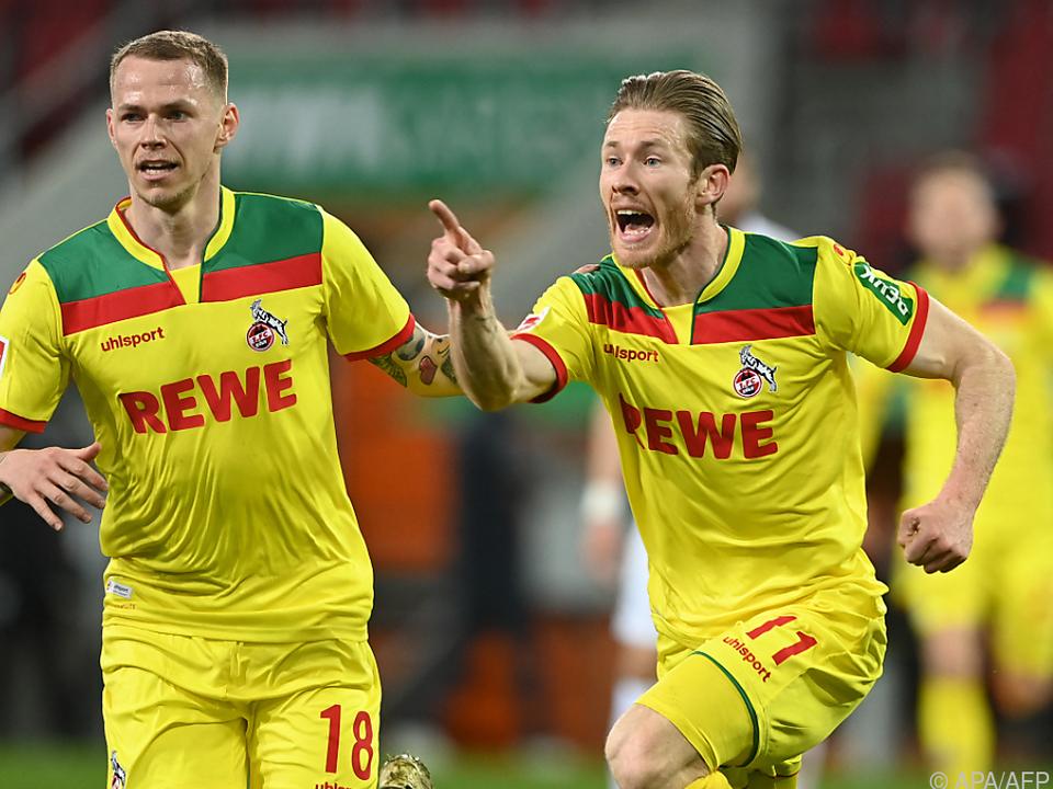 Florianz Kainz (11) bejubelt sein Tor gegen Augsburg