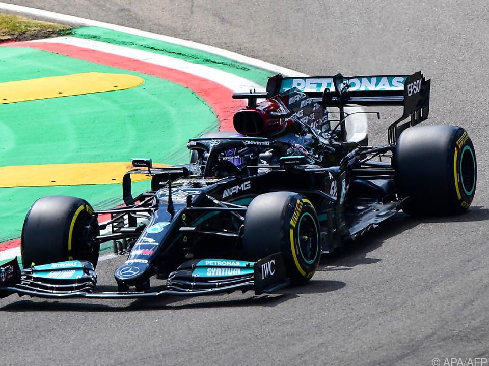 Hamilton war im Qualifying in Imola auch für Red Bull nicht zu biegen