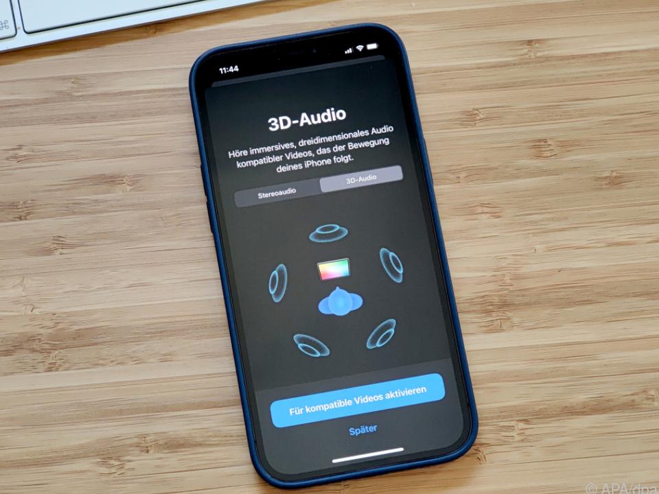 Im Bluetooth-Menü finden sich die nötigen Einstellungen für 3D-Audio