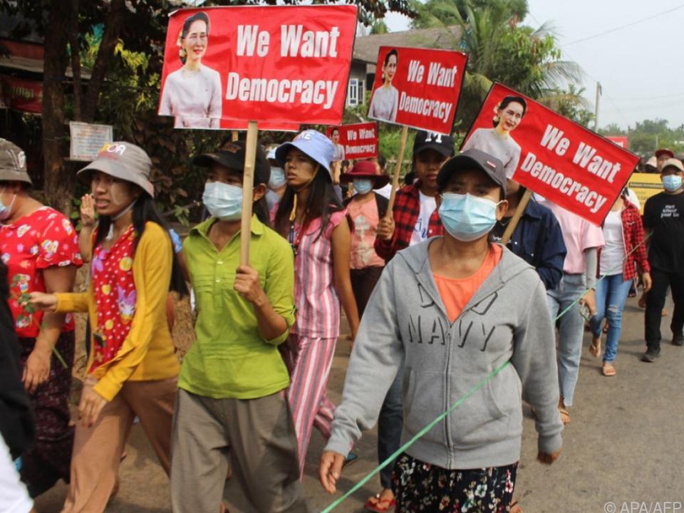 Immer mehr Todesopfer unter Demonstranten in Myanmar