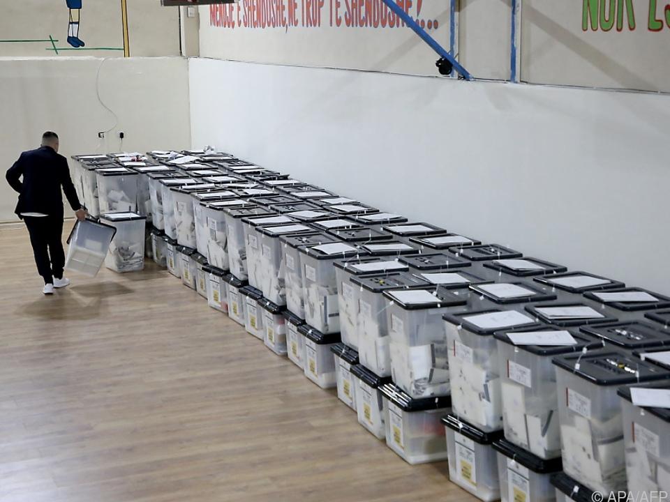 In Albanien läuft die Stimmenauszählung