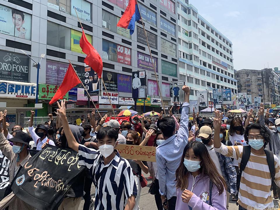 In Myanmar gehen weiter die Wogen hoch
