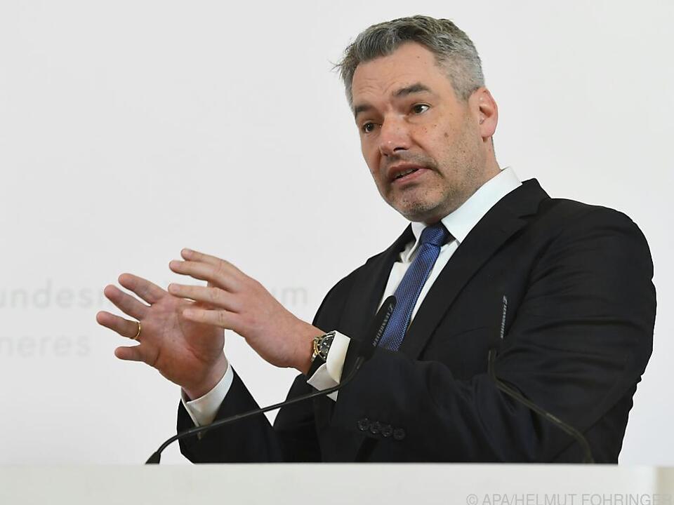 Innenminister Nehammer kündigt Pilotprojekt an