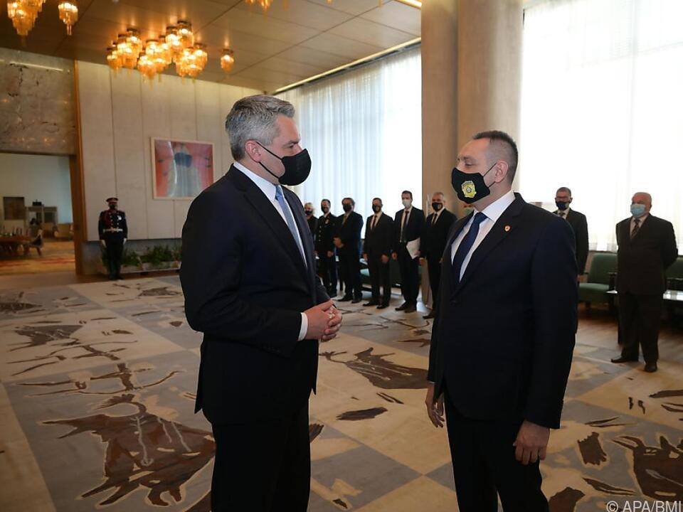 Innenminister Nehammer mit serbischem Kollegen Vulin