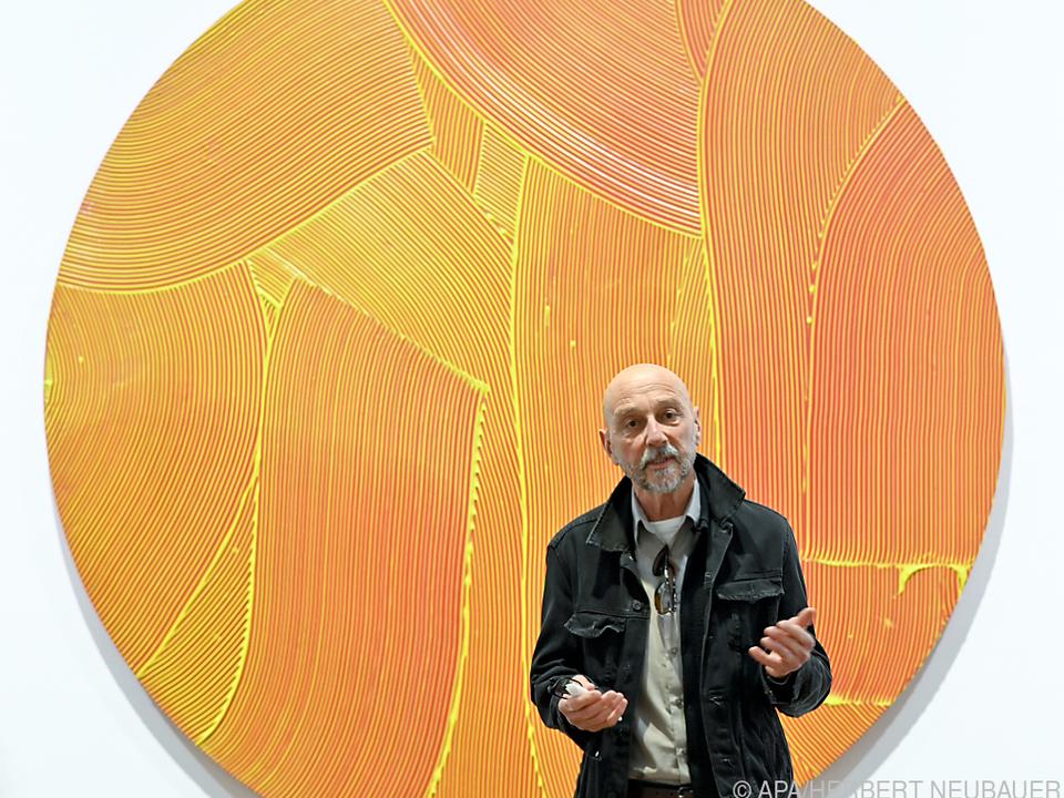 Jakob Gasteiger in seiner Albertina-Ausstellung