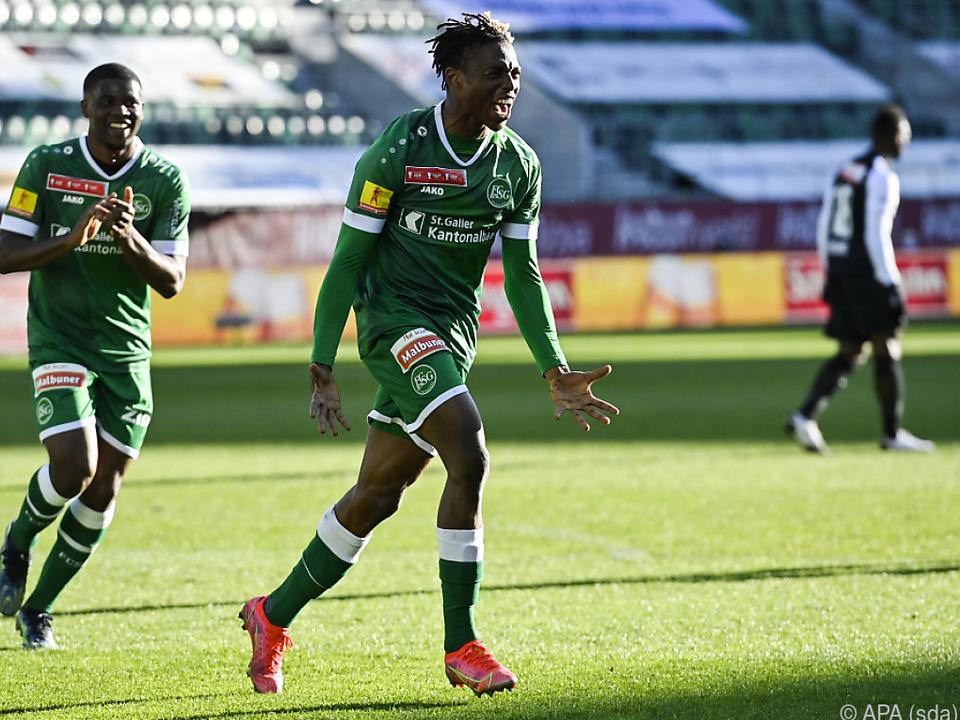 Junior Adamu war bei St. Gallens Cuperfolg herausragend