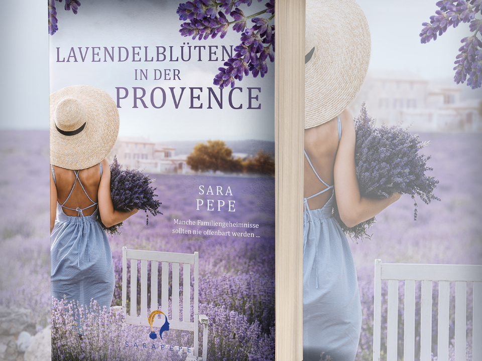 Lavendelblüten Werbegrafik