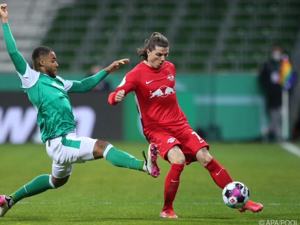 Leipzigs Sabitzer wurde gegen Bremen in der 74. Minute ausgetauscht