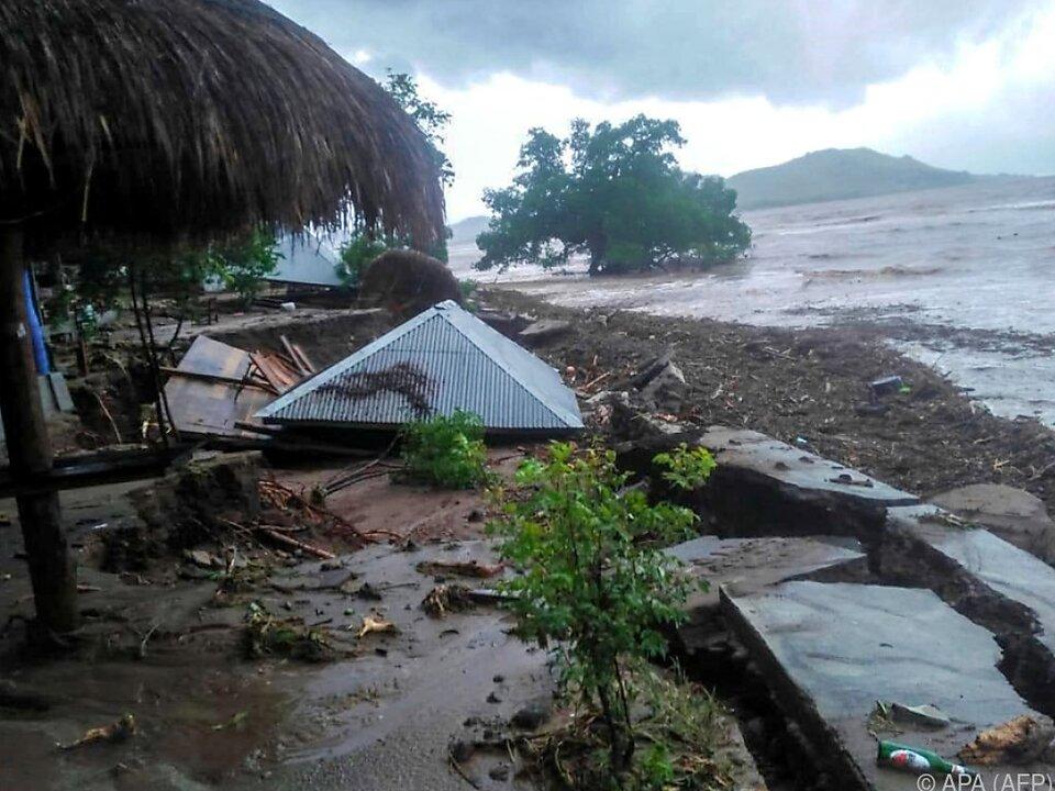 Mehrere Dörfer wurden getroffen