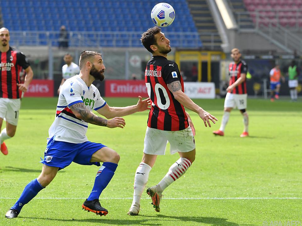 Milan gegen Sampdoria nur mit Remis