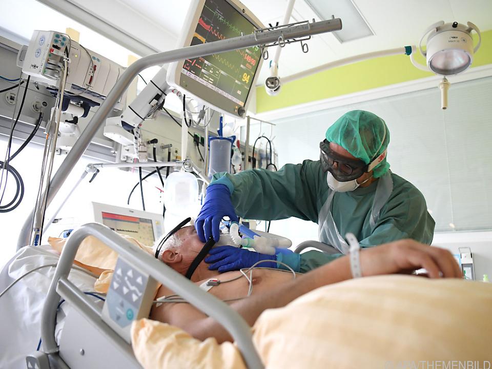 Mittlerweile 581 Patienten in intensivmedizinischer Betreuung
