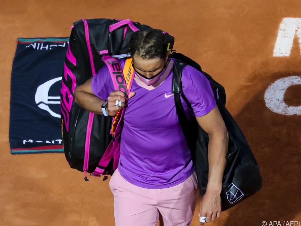 Nadal verlässt Court und Turnier von Monte Carlo