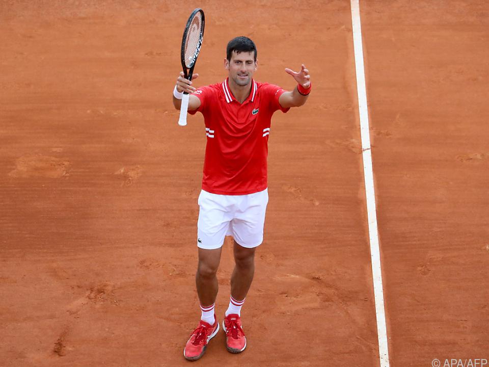 Novak Djokovic gewann sein Auftaktmatch in Monte Carlo