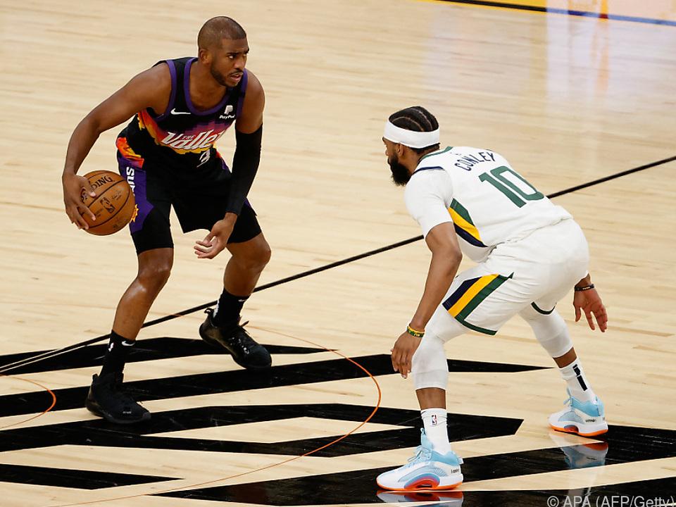 Phoenix gewinnt das NBA-Spitzenspiel gegen Utah