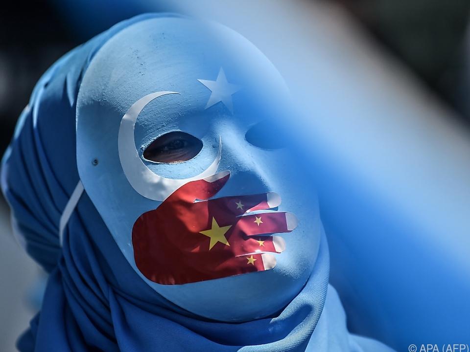 Proteste gegen Unterdrückung der Uiguren