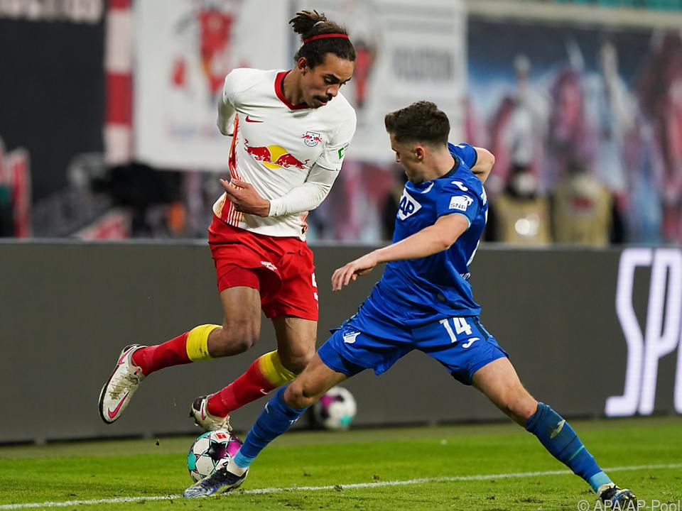 RB Leipzig kam daheim gegen Hoffenheim mit Christoph Baumgartner über ein 0:0 nicht hinaus