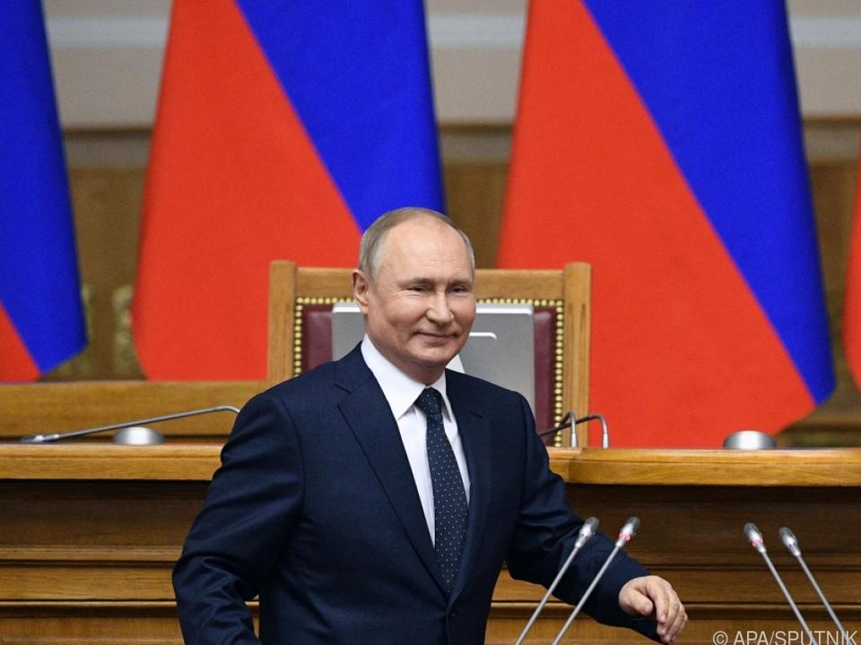 Russlands Präsident Putin setzt auf Gegenmaßnahmen