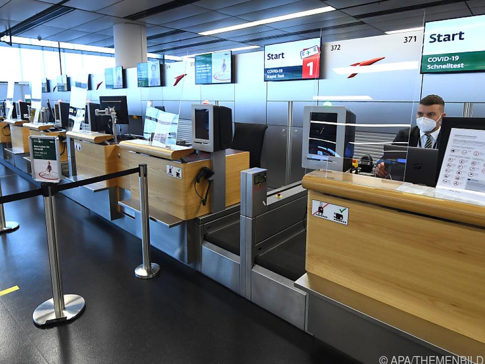 Schalter am Flughafen Wien