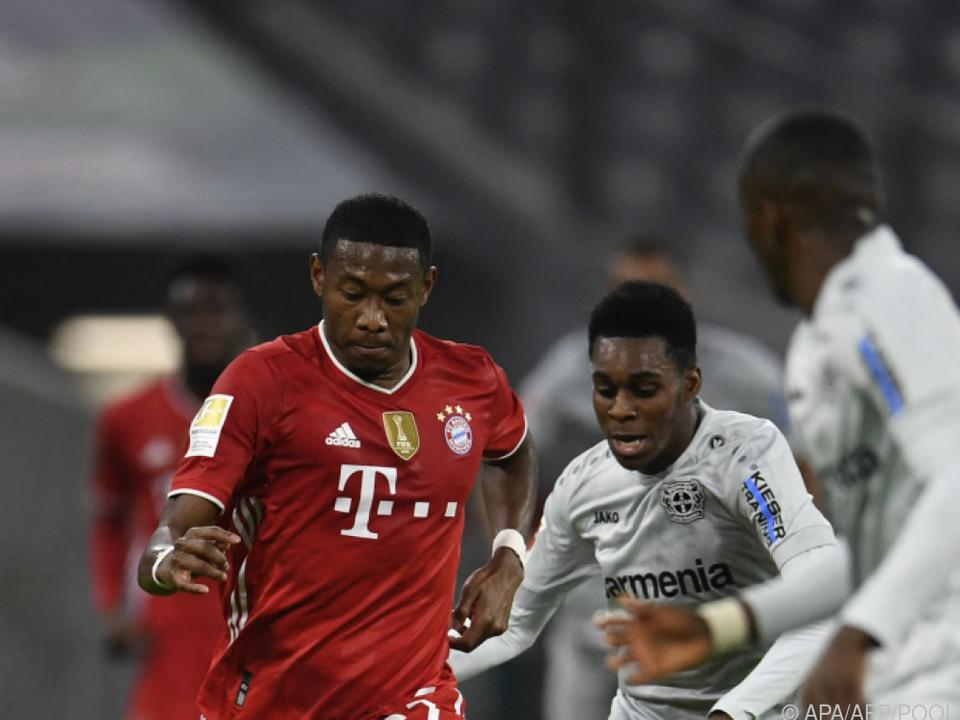 Starke Leistung von Alaba beim Bayern-Sieg über Leverkusen