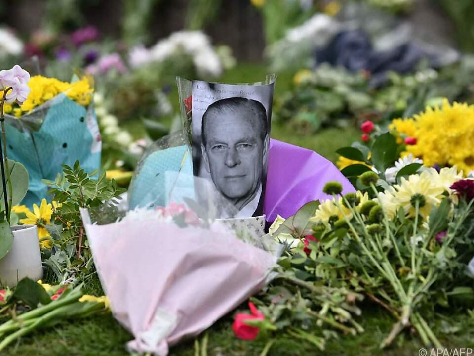 Trauer in Großbritannien nach Tod von Prinz Philip