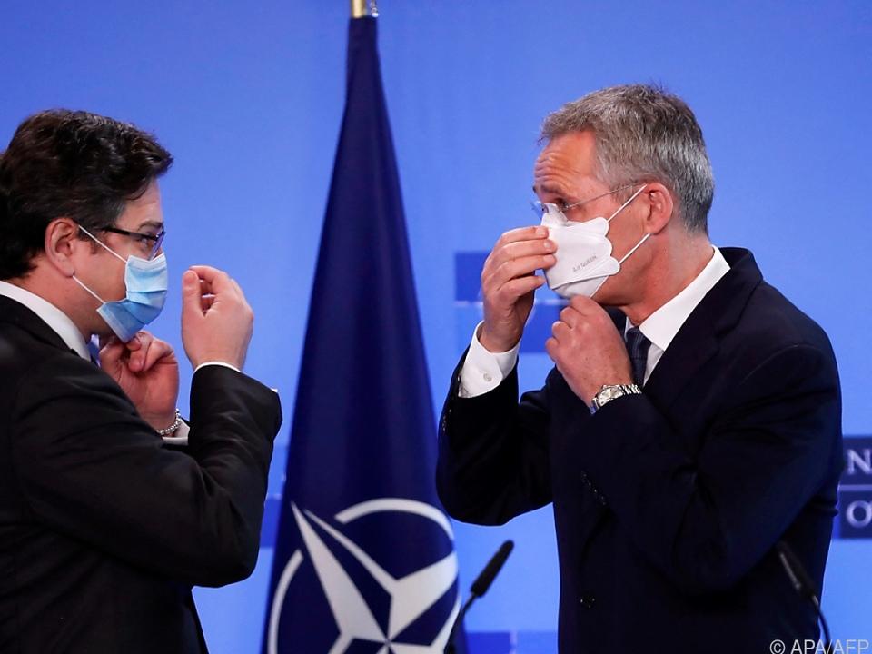 Ukrainischer Außenminister zu Besuch bei der NATO