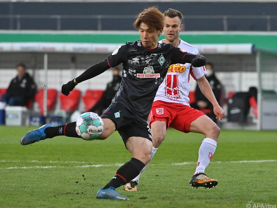 Yuya Osako schoss Bremen ins Halbfinale des DFB-Pokals