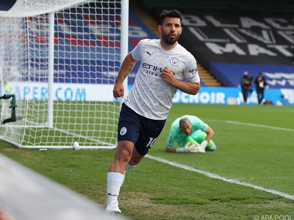 Aguero schoss ManCity gegen Crystal Palace in Führung