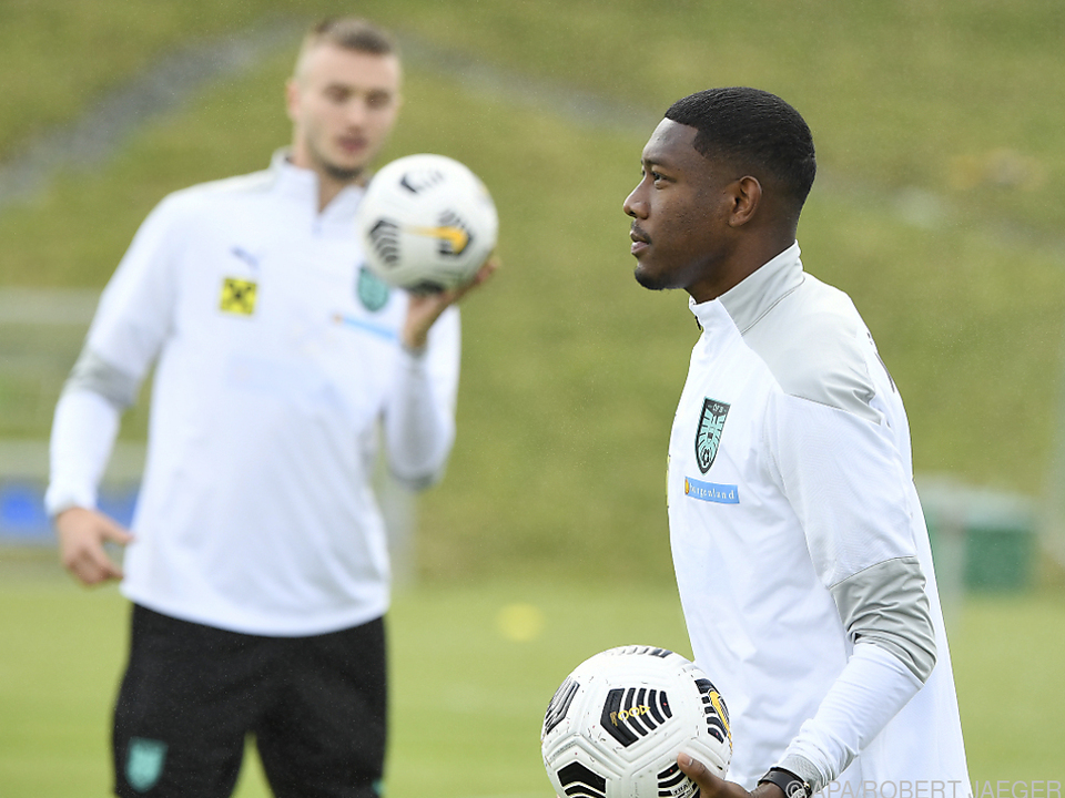 Alaba im ÖFB-Training schon ganz im Real-Madrid-Weiß