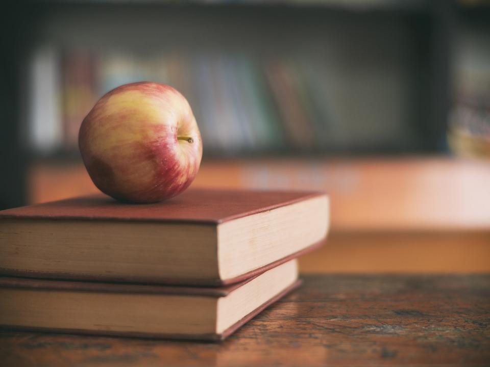Apfel Schule Pause