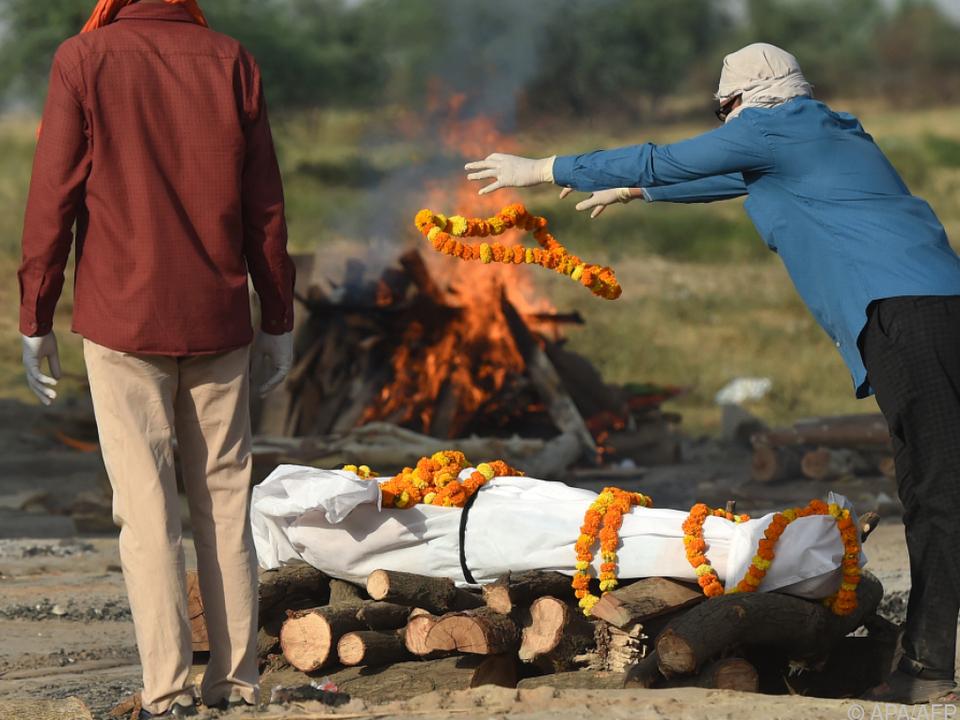 Begräbnisritual in Allahabad