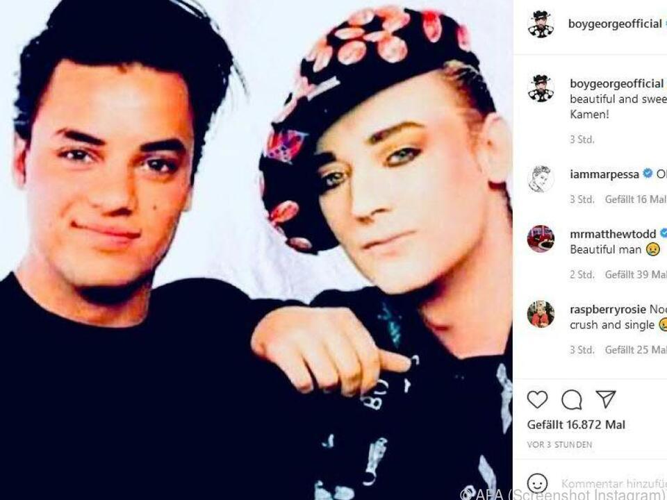 Boy George postet altes Foto von Kamen und sich