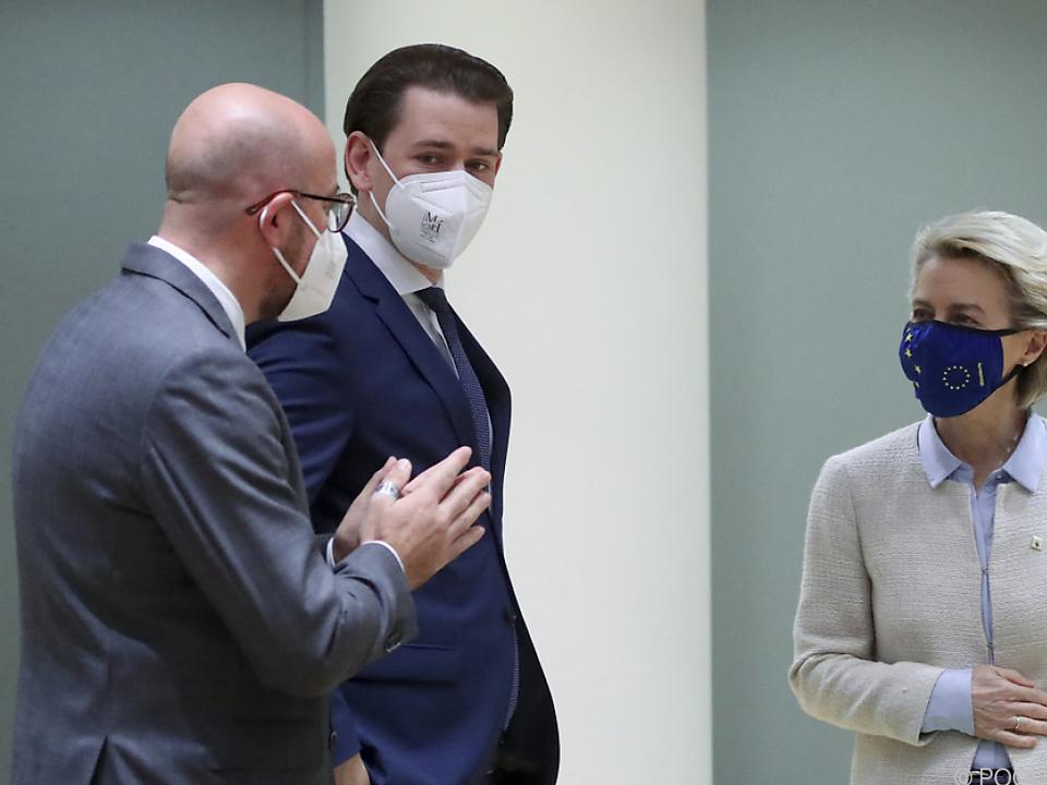 Bundeskanzler Sebastian Kurz fordert faire Lastenteilung