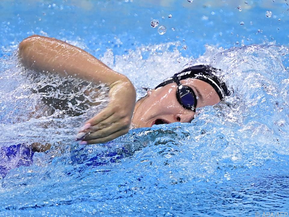 Cornelia Pammer bei der SchwimmEM in Budapest