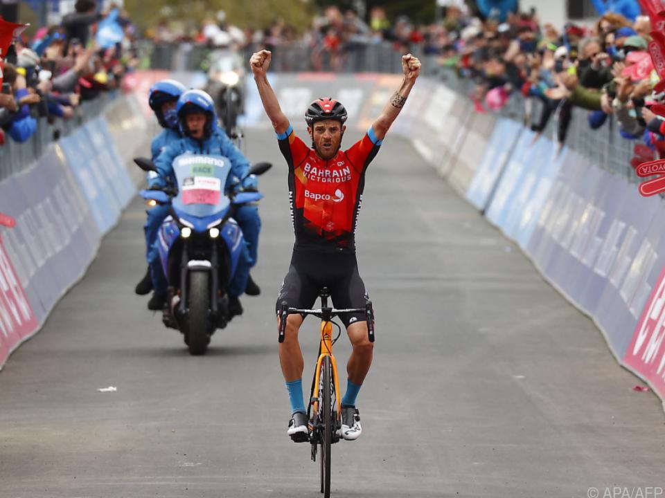 Damiano Caruso feierte auf der vorletzten Giro-Etappe als Gesamt-Zweiter einen Solosieg