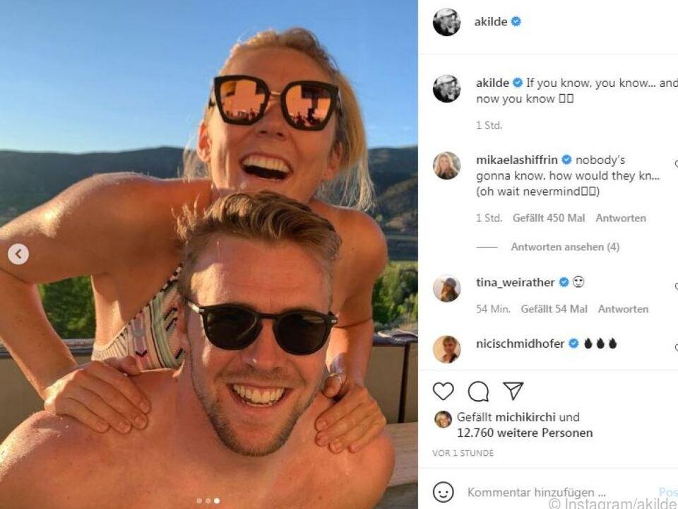 Das Paar zeigt sich turtelnd auf Instagram