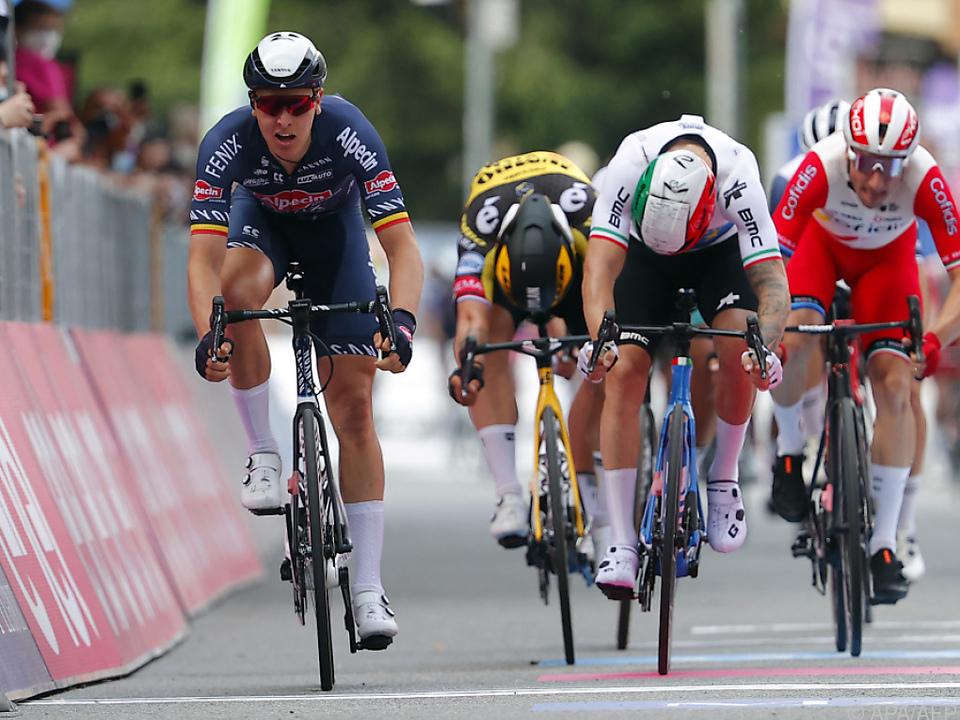 Der Belgier gewann den Massensprint in Novara