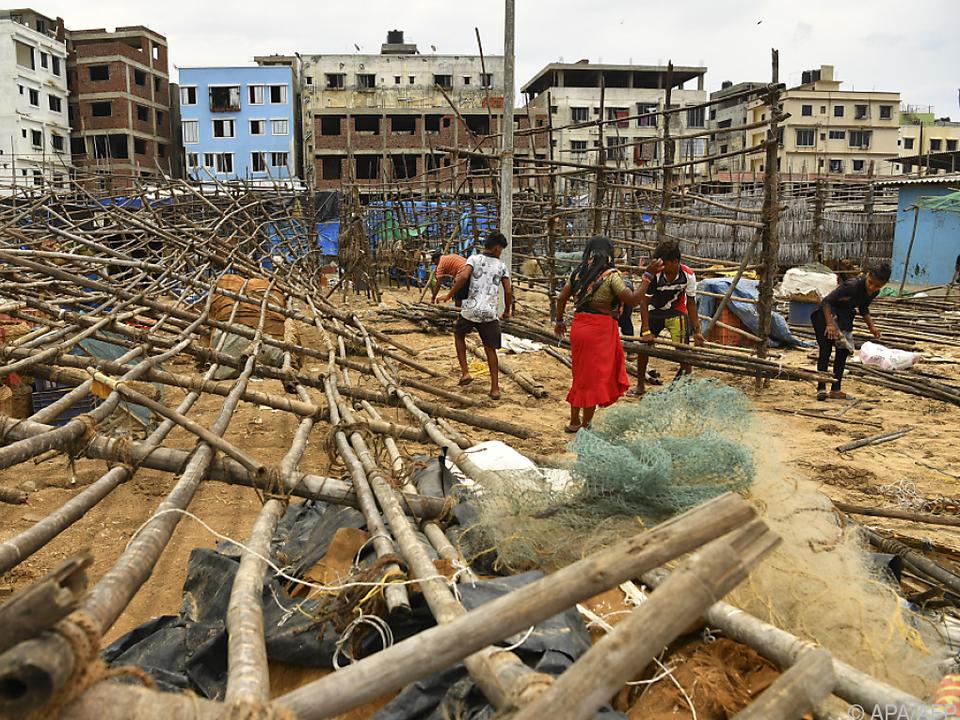 Der Zyklon hinterließ eine Spur der Zerstörung