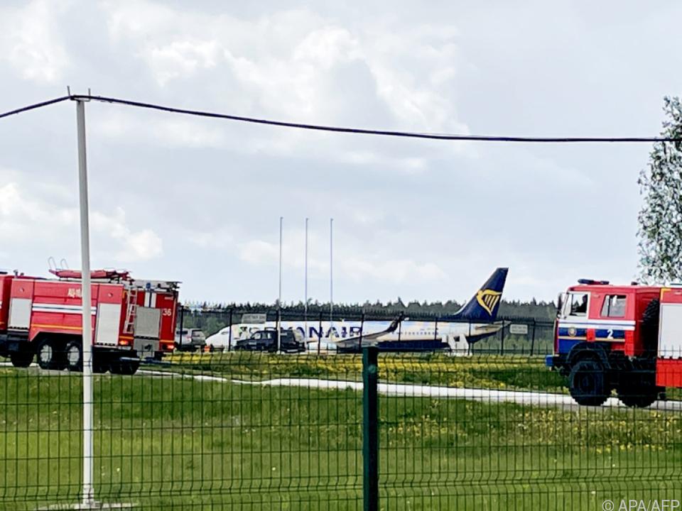 Die Ryanair-Maschine war von Athen nach Vilnius unterwegs