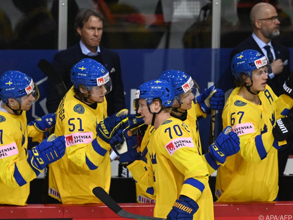 Die Schweden erzielten gegen Schweiz sieben Tore.