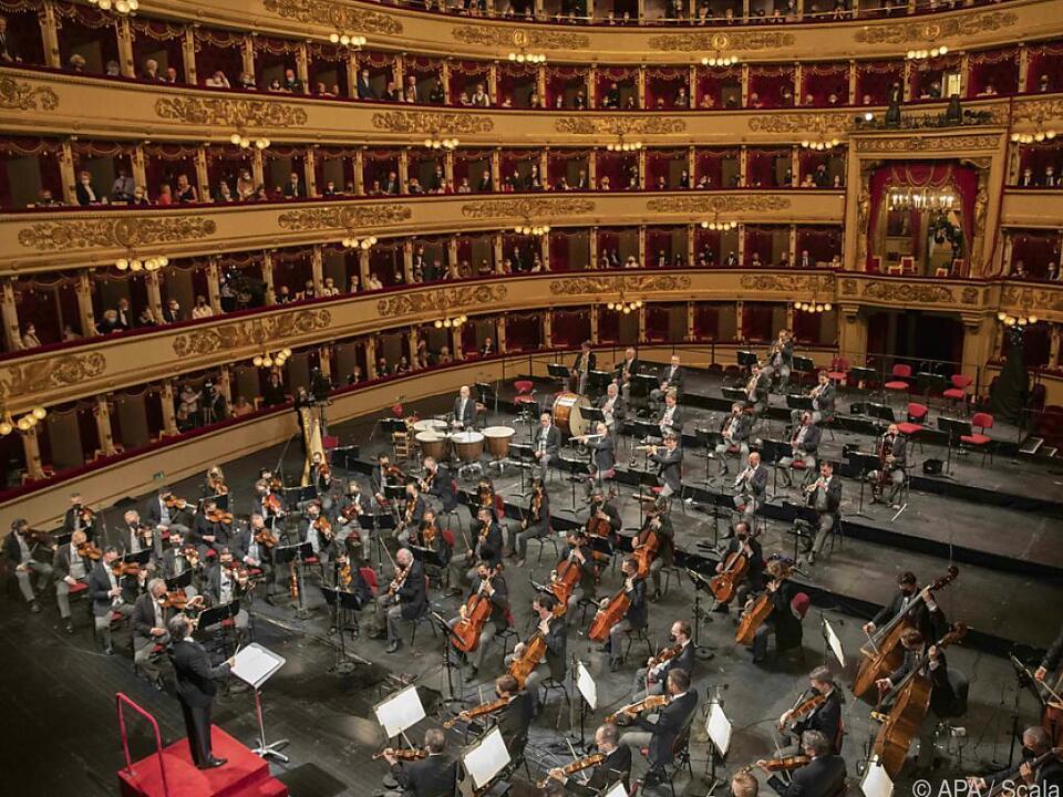 Die Wiener Philharmoniker musizierten unter Riccardo Muti in der Scala