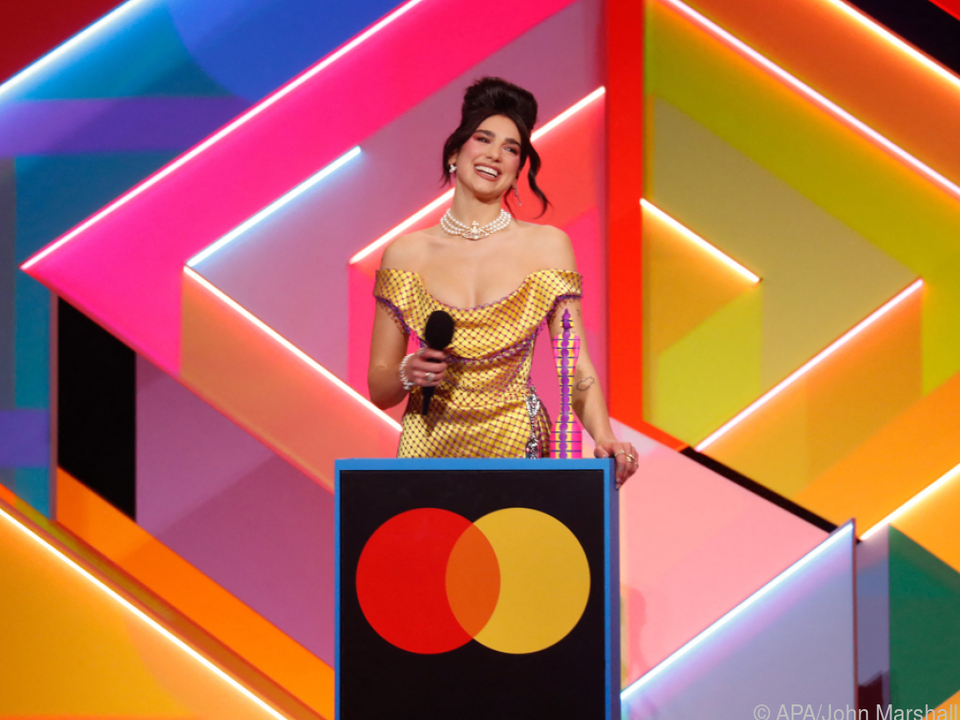 Dua Lipa erhielt den Brit Award als beste Solokünstlerin