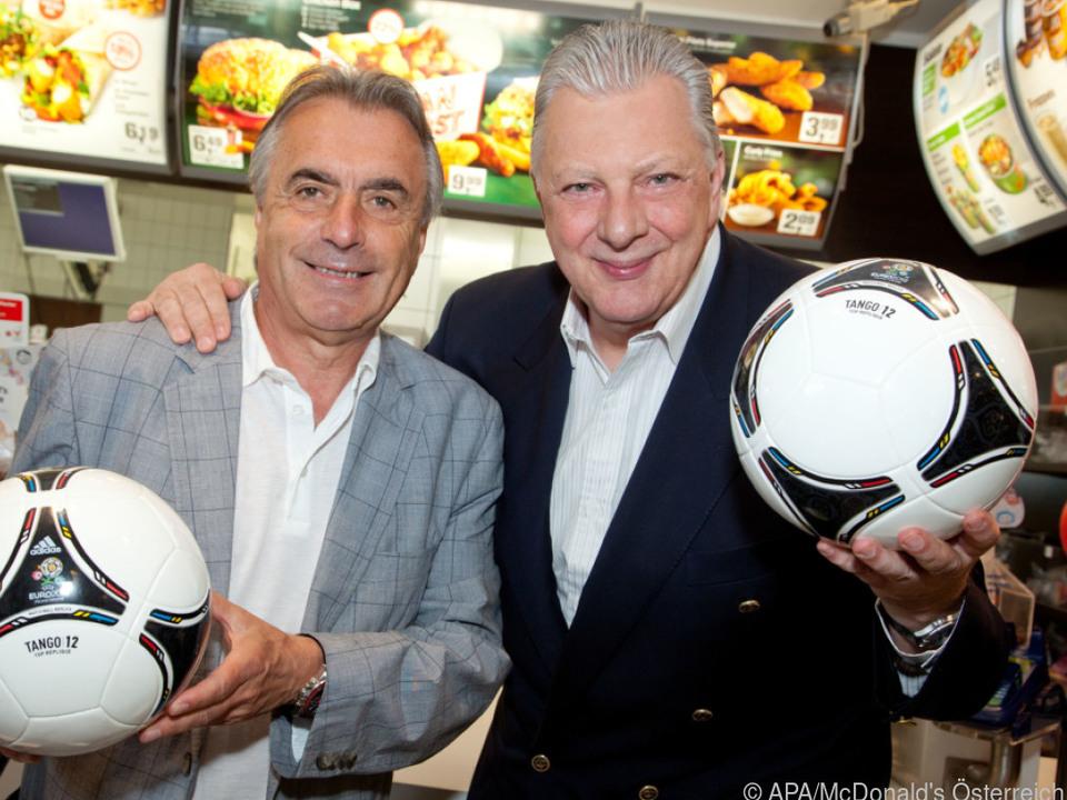 Edi Finger (rechts) mit seinem Kollegen Hans Huber