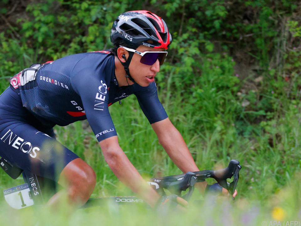 Egan Bernal beim Ritt zur Giro-Gesamtführung