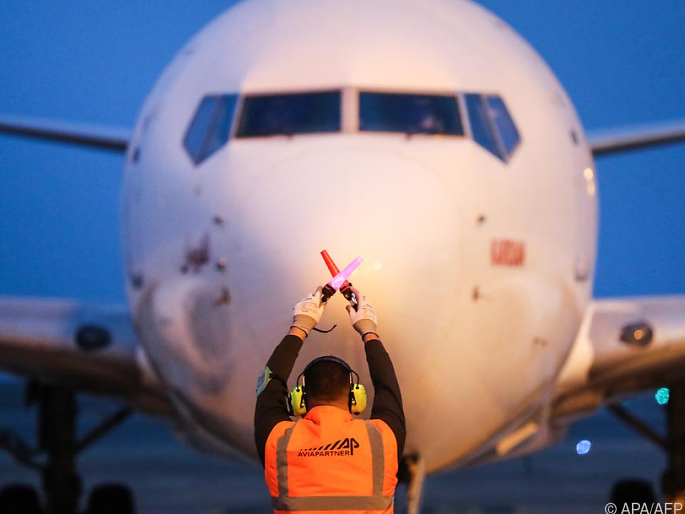 Eine Boeing 737 am Flughafen von Nizza