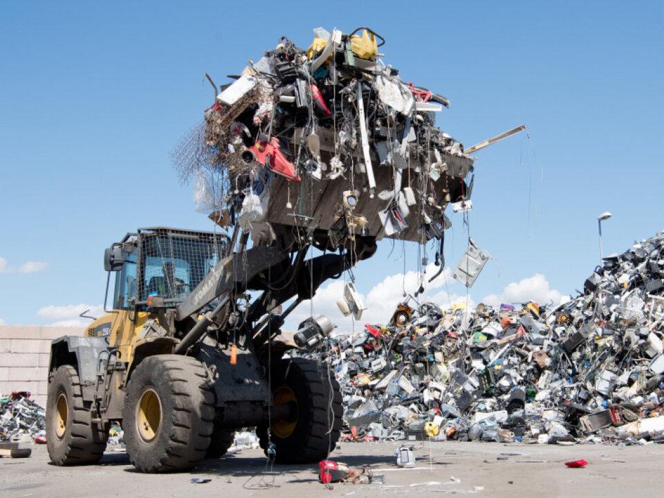 Elektroschrott muss vom restlichen Müll getrennt werden