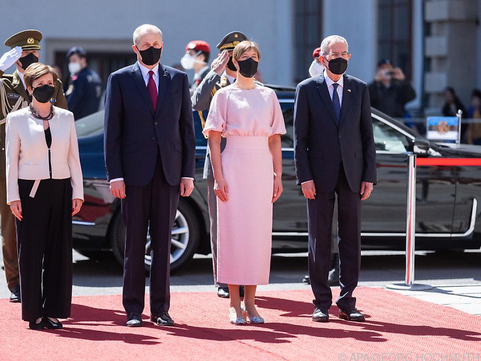 Estlands Präsidentin von Van der Bellen empfangen