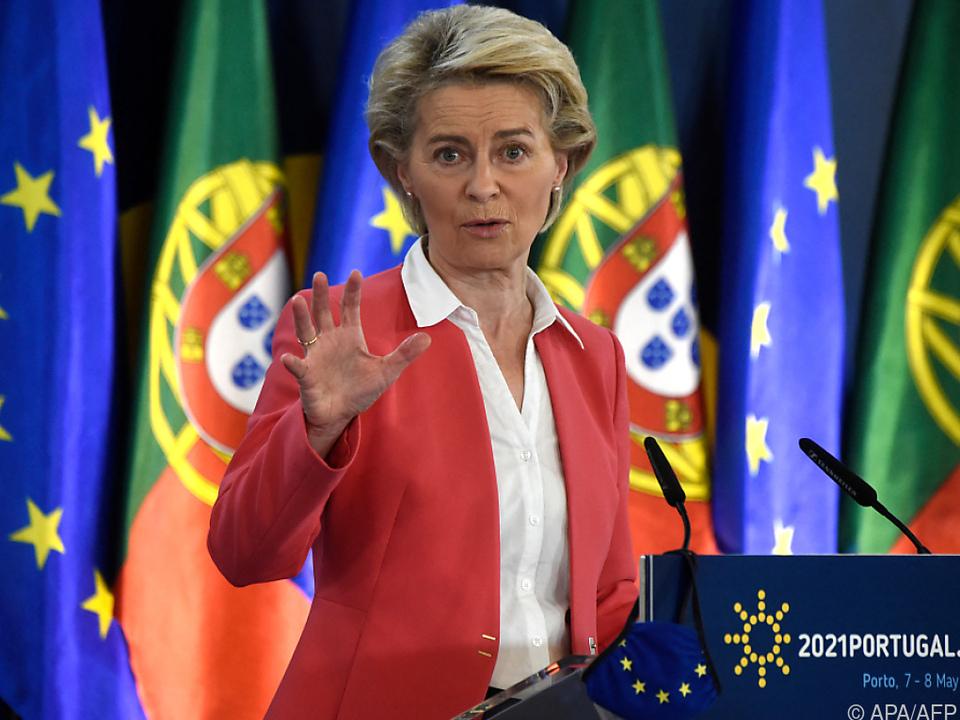 EU-Kommissionspräsidentin Ursula von der Leyen in Porto
